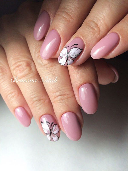 Butterfly Nail Art, Nail Nails Manicure Black
