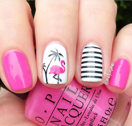 Flamingo Nail, Nail Designs Art Nails