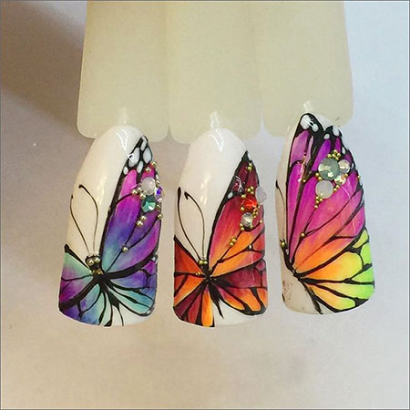 Manicure Nail Butterfly Nails