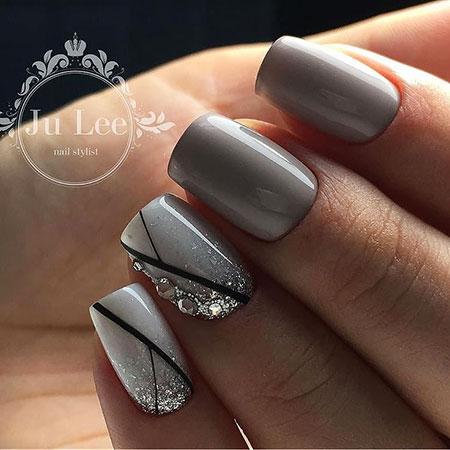 Nail Manicure Gray Nails