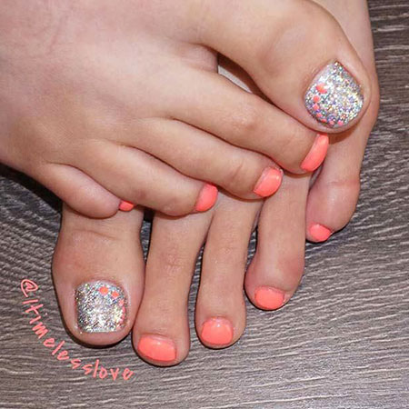Nail Toe Art Summer