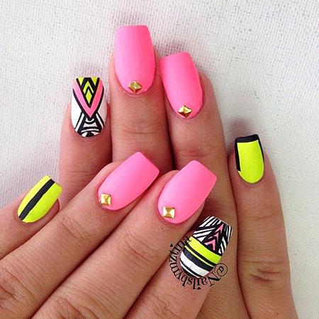 Nail Neon Designs Art