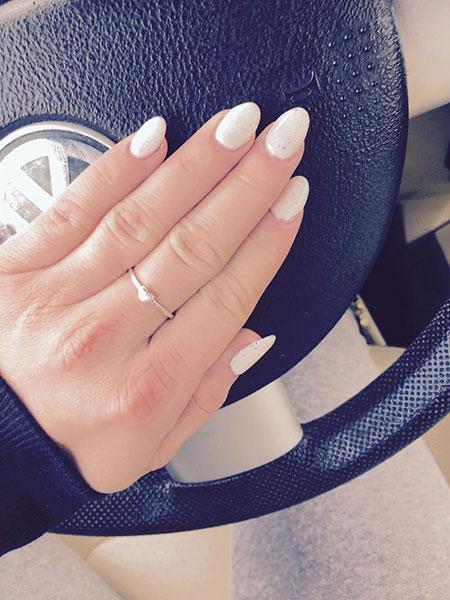 Nails Acrylic White Nail