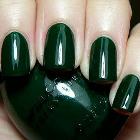 Polish Green Nail Love