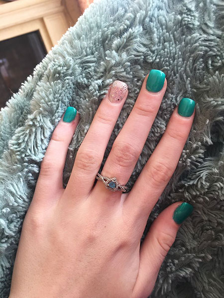 Green Nail Polish Shellac