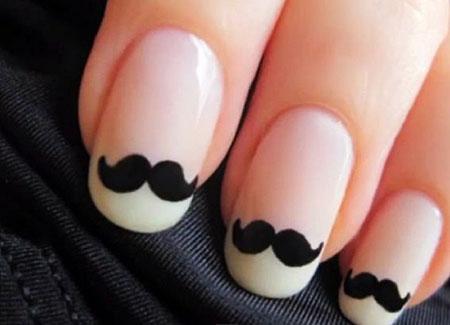 Nails Moustache Mustache Cute