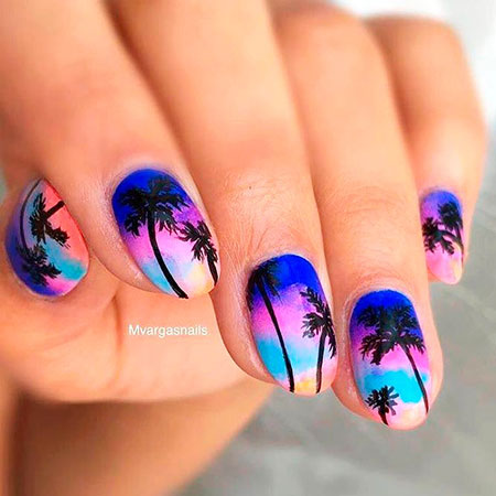 Nail Art Summer Tropical