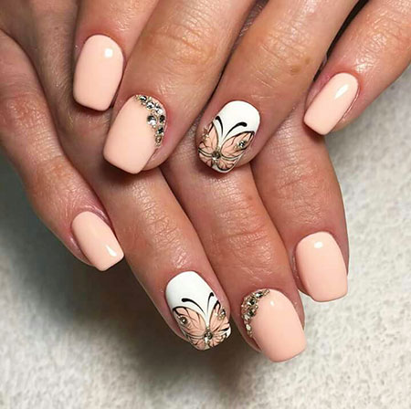 Summer Nails, Nail Manicure Peach Designs