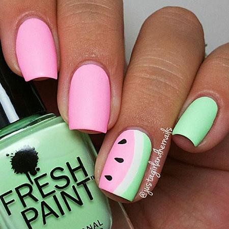 Watermelon Nail Design, Nail Summer Nails Art