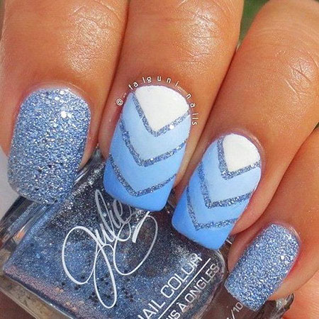 Nail Nails Blue Ombre