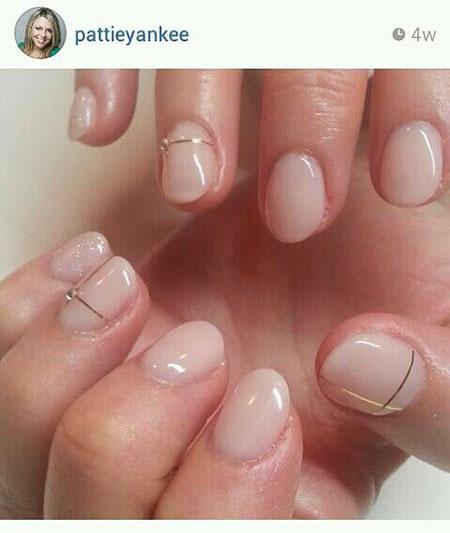 Short Nail Oval Manicure