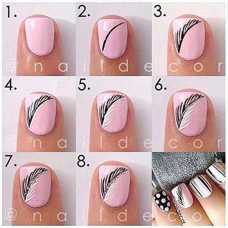 Nails Nail Feather Easy