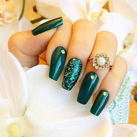 Nails Nail Green Coffin