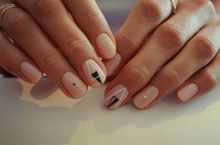 Geometric Nail Design, Nail Manicure Easy Nails
