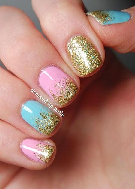 Cute Short Nails, Glitter Nail Polish Nails