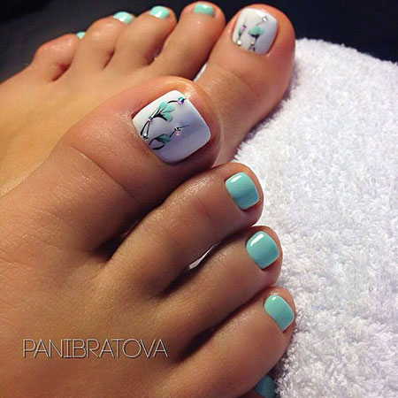 Chic Blue, Toe Nail Art Designs