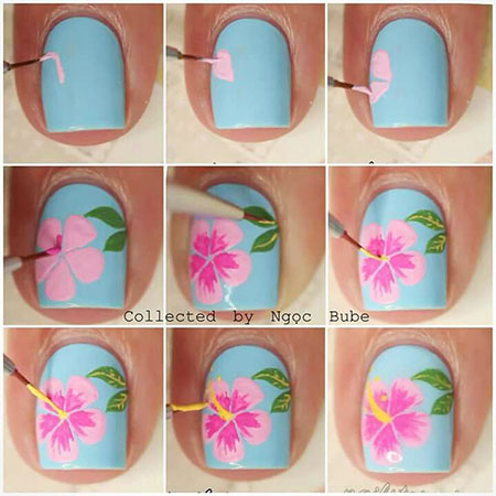 Cute Flowers, Nail Manicure Nails Flower
