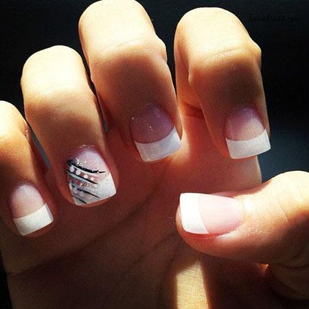 French Tip Nail Design, French Acrylic Nails Nail
