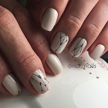 Minimalist Nail Art , Nail Manicure Nails Geometric