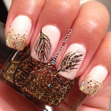 Nail Feather Designs Art