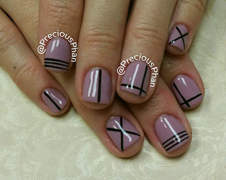 Nail Line Black Designs