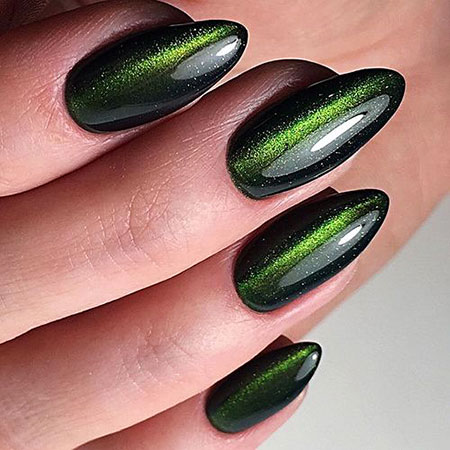 Nail Nails Green Polish