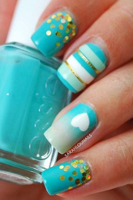 Nails Nail Gold Tropical