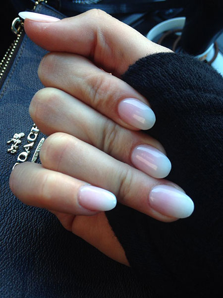 Pink White Manicure Nails