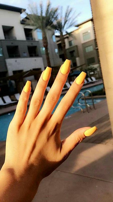 Nails Nail Acrylic Yellow
