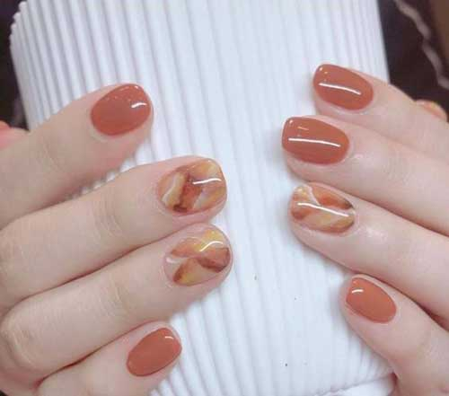 Short Oval Nail Designs-12