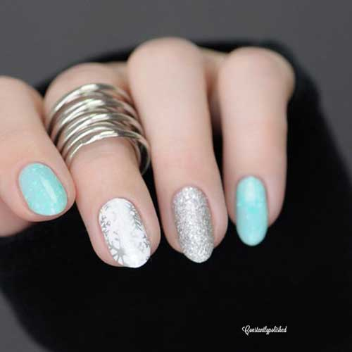 Oval Short Nail Arts
