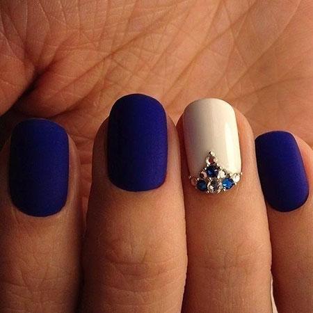 Manicure Nail Blue Nails