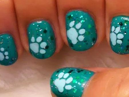 Cute Dog Paw Nails, Nail Art Dog Cute
