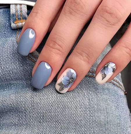 Grey Nail Color, Nail Grey Summer Manicure