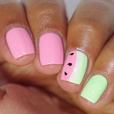 Nail Summer Cute Watermelon