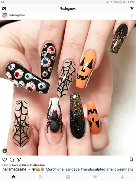 21-Halloween-Nail-Design-Pinterest-Coffin-Long-32 - Nail ...