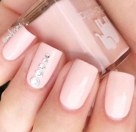 Pink Simple Nails Nail