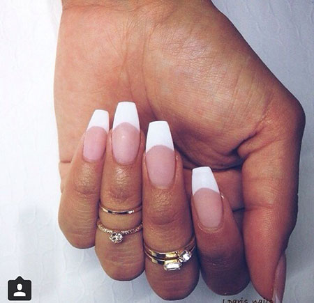 Nails Nail French Coffin