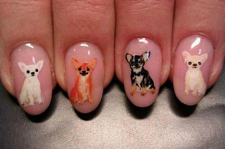 Chihuahua Nail Art, Nail Dog Art Designs