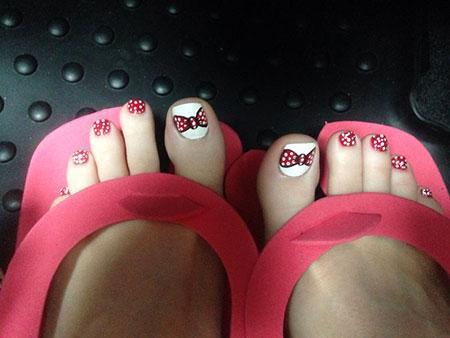 Cute and Simple Toe Nails, Nail Toe Cute Disney