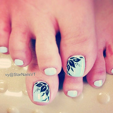 Spring Toe Nails, Nail Toe Pedicure Designs