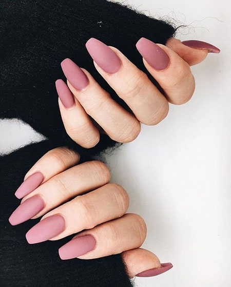 Nude Pink Matte Nails, Nails Nail Manicure New