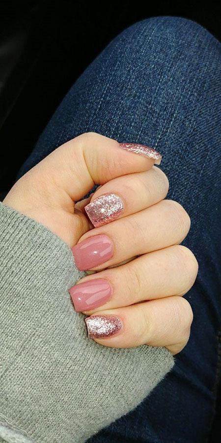Short Natural Nails, Nail Acrylic Nails Glitter