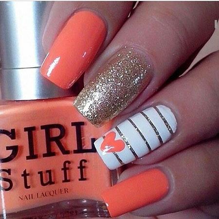 Coral Nail Nails Summer