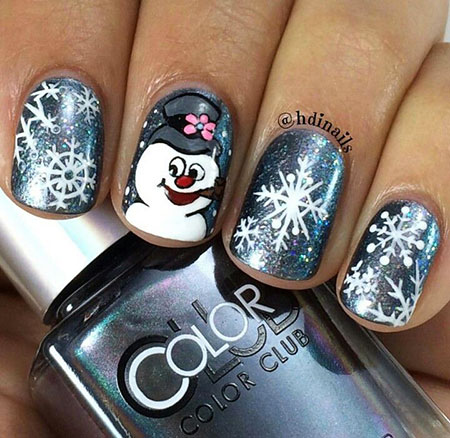 Nail Christmas Art Winter