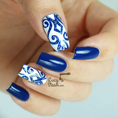 Nail Blue Designs Art