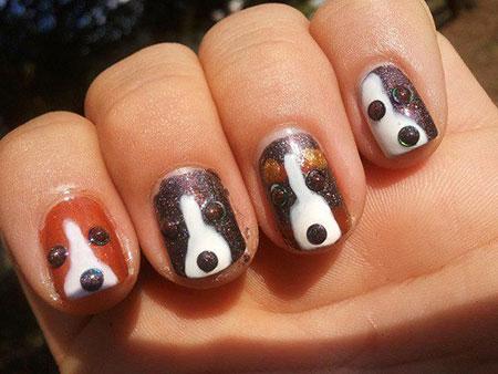 Nail Dog Halloween Art