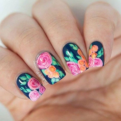Floral Nail Designs-12