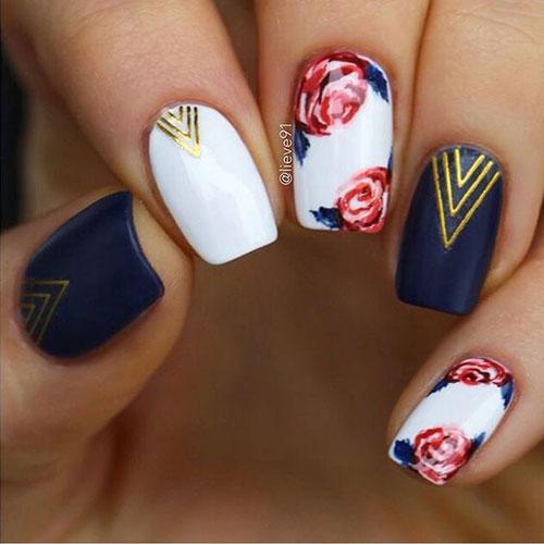 Floral Nail Designs-13