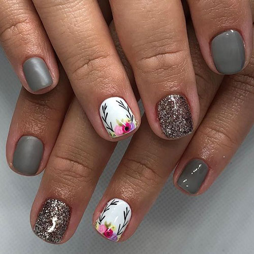 Floral Nail Designs-19